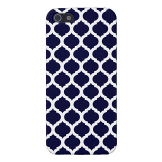 Navy Blue & White Moroccan iPhone Case Savvy Case iPhone 5/5S Cases