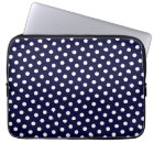 Navy Blue & White Polka Dot Laptop Sleeve