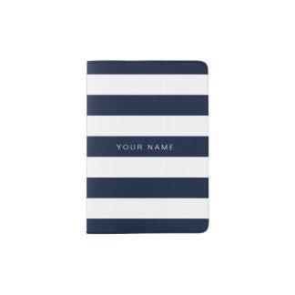 Navy blue & White Striped