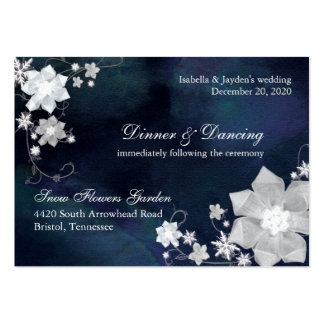 Navy Blue & White Wedding Reception (3.5x2.5) Pack Of Chubby Business Cards