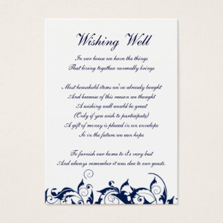 navy blue wishing well cards