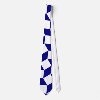 Navy Blue with white abstract pattern Tie