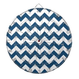 Navy Blue Zigzag Stripes Chevron Pattern Dart Boards