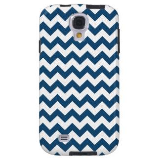 Navy Blue Zigzag Stripes Chevron Pattern Galaxy S4 Case