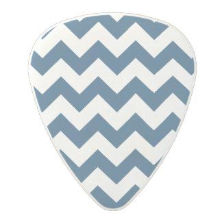 Navy Blue Zigzag Stripes Chevron Pattern Polycarbonate Guitar Pick