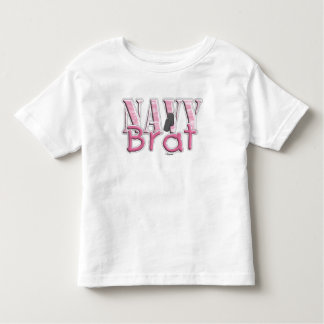 Navy Brat pink Toddler T-Shirt