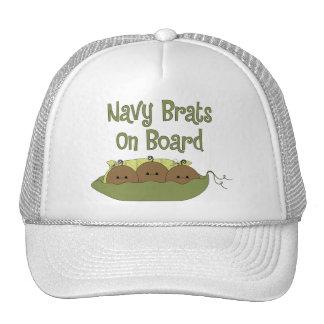 Navy Brats On Board Triplets (African American) Trucker Hat