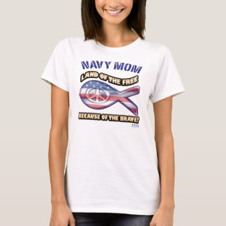 NAVY_BRAVE_MOM T-Shirt