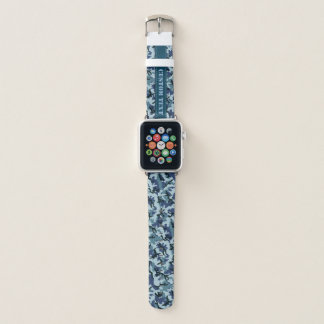 Navy Camouflage Apple Watch Band