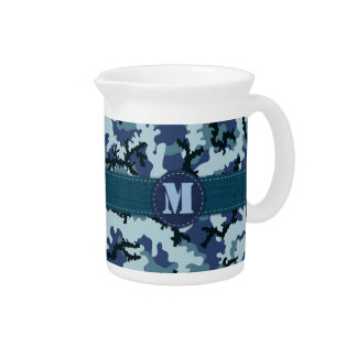 Navy camouflage pitcher