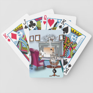 Navy Cartoon 9384 Bicycle Playing Cards