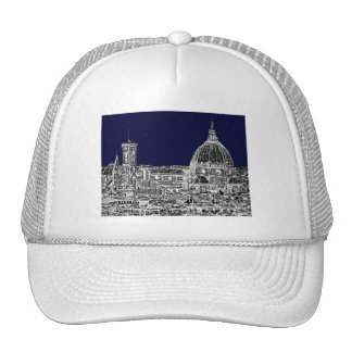 Navy cathedral Florence Trucker Hat