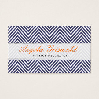 Navy Chevron Business Cards