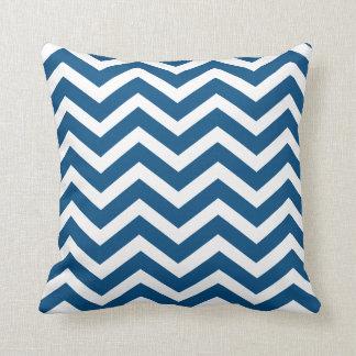 Navy Chevron toss pillow Throw Cushion
