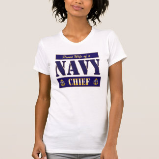 Navy Chief Wife Block Style T-Shirt