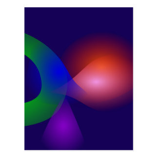 Navy Contrast Abstract Composition Postcard