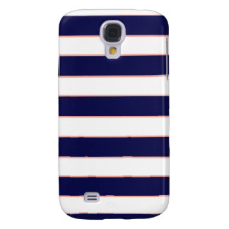 navy coral stripes galaxy s4 covers
