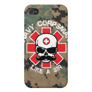 Navy Corpsman - Like A Sir iPhone 4 Cover