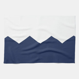 navy cream chevron part towel