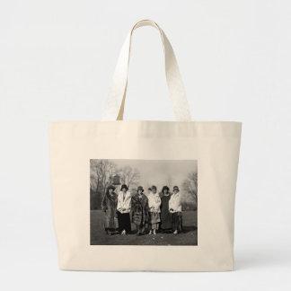 Navy Debutantes, 1920s Jumbo Tote Bag