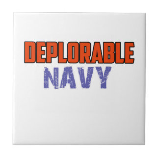 NAVY DESIGN SMALL SQUARE TILE