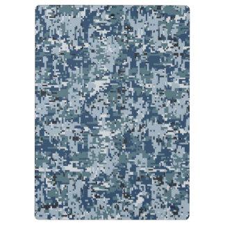 Navy  Digital Camo Camouflage Decor Clipboard