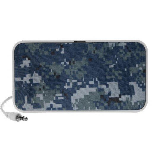 Navy Digital Camouflage Doodle Speaker