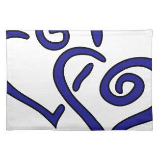 Navy Double Heart Placemat