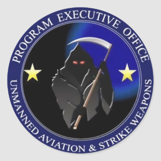 Navy Drone Logo Grim Reaper Stickers