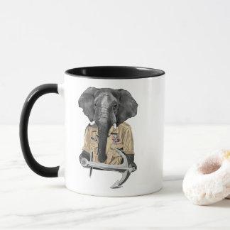 Navy Elephant Mug