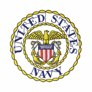 Navy Emblem Embroidered Jacket