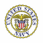 Navy Emblem Embroidered Polo Shirt