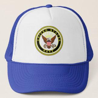 Navy Emblem Trucker Hat