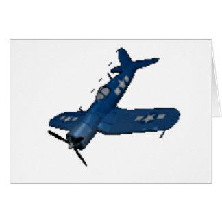 NAVY f4u corsair diving Greeting Card