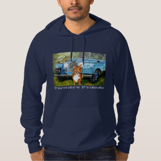 Navy Fleece Hooded Sweatshirt. Hooded Pullovers