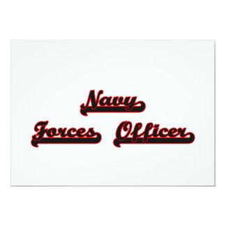 Navy Forces Officer Classic Job Design 13 Cm X 18 Cm Invitation Card