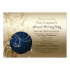 navy gold Festive Corporate holiday party Invite