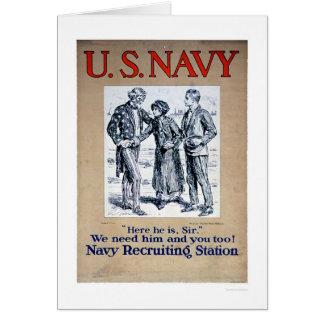 Navy - Here he is Sir (US02306) Card