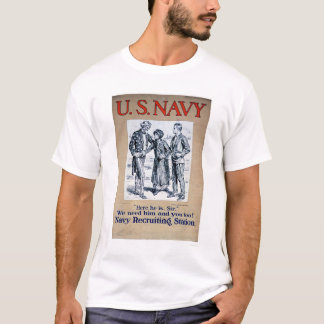 Navy - Here he is Sir (US02306) T-Shirt