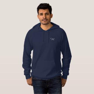 """Navy hoodie """"H """""""