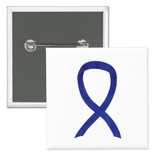 Navy, Indigo, Dark Blue Awareness Ribbon Pin