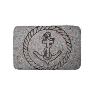 Navy Insignia Boat Anchor Small Bath Mat Bath Mats