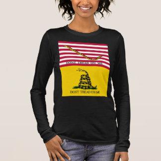Navy Jack & Gadsden Flags Long Sleeve T-Shirt