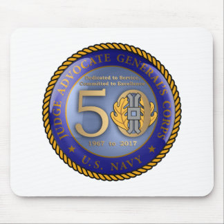 Navy JAG Corps 50th Mouse Pad
