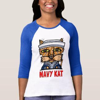"""Navy Kat"" Women's 3/4 Sleeve Raglan T-Shirt"