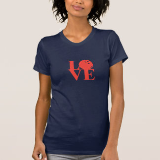 "Navy ""Love"" Bowling Tee by League Champ Bowling"