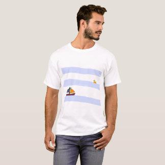 NAVY MARITIME WHITE TEE-SHIRT/WHITE T-Shirt