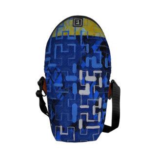 Navy Maze Messenger Bags