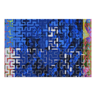Navy Maze Posters
