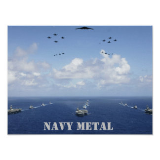 Navy Metal group Poster